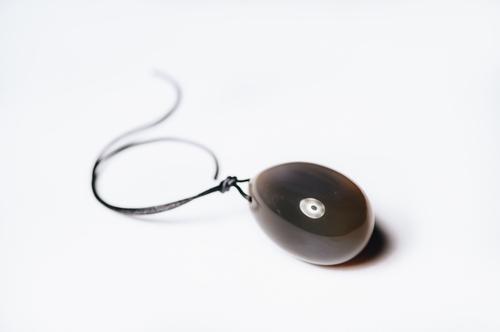 Yoni vajíčko šedý Achát