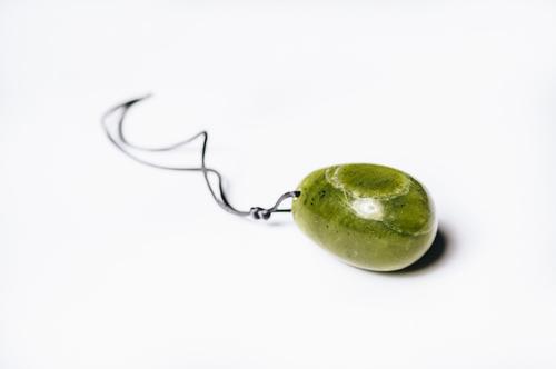 Yoni vajíčko zelený Lizardit